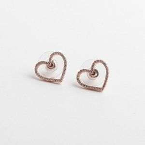Kate Spade Rose Heart Short Stud Earrings